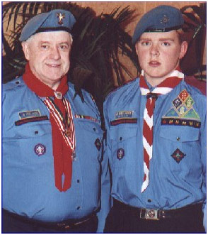 Chief Scout Joe Lawlor and Mark Casey