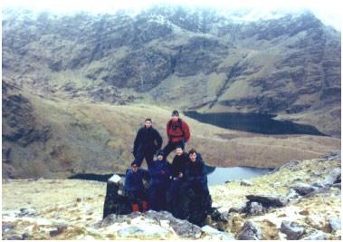 Members of the De La Salle Venturer Group in the Macgillycuddy's Reeks