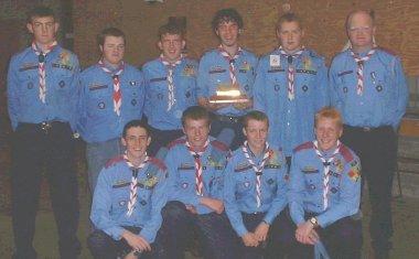 The 2000 winners of the Cairde Trophy with back row (L-R): Paul McSweeney, Keith Cunningham AVL, Kenneth Rouse, Eric Whelan, Mark Casey, Owen Riordan VL. Front row: John Butler, John Kinsella, Derek Ryan and Paul Cunningham