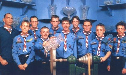 3rd Scout Troop - winners of the Melvin Trophy in 2001