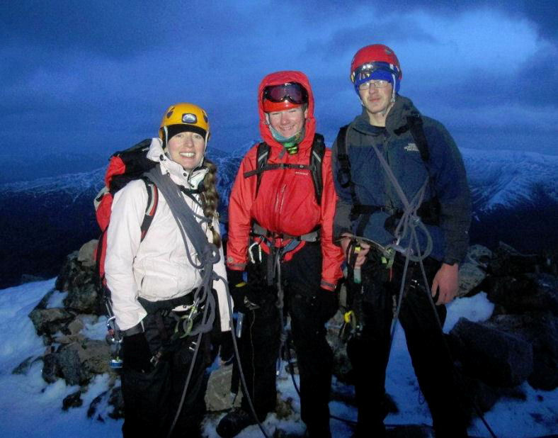 On the summit of Buaichille Etive Mor