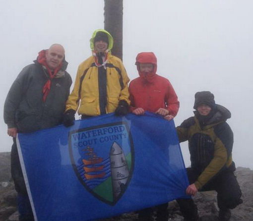 The Rovers on the summit of Corran Tuathail (1039m)