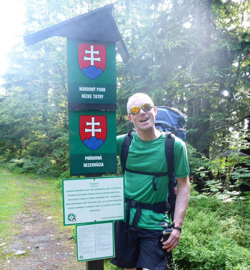 At the entrance to the Nizke Tatry National Park