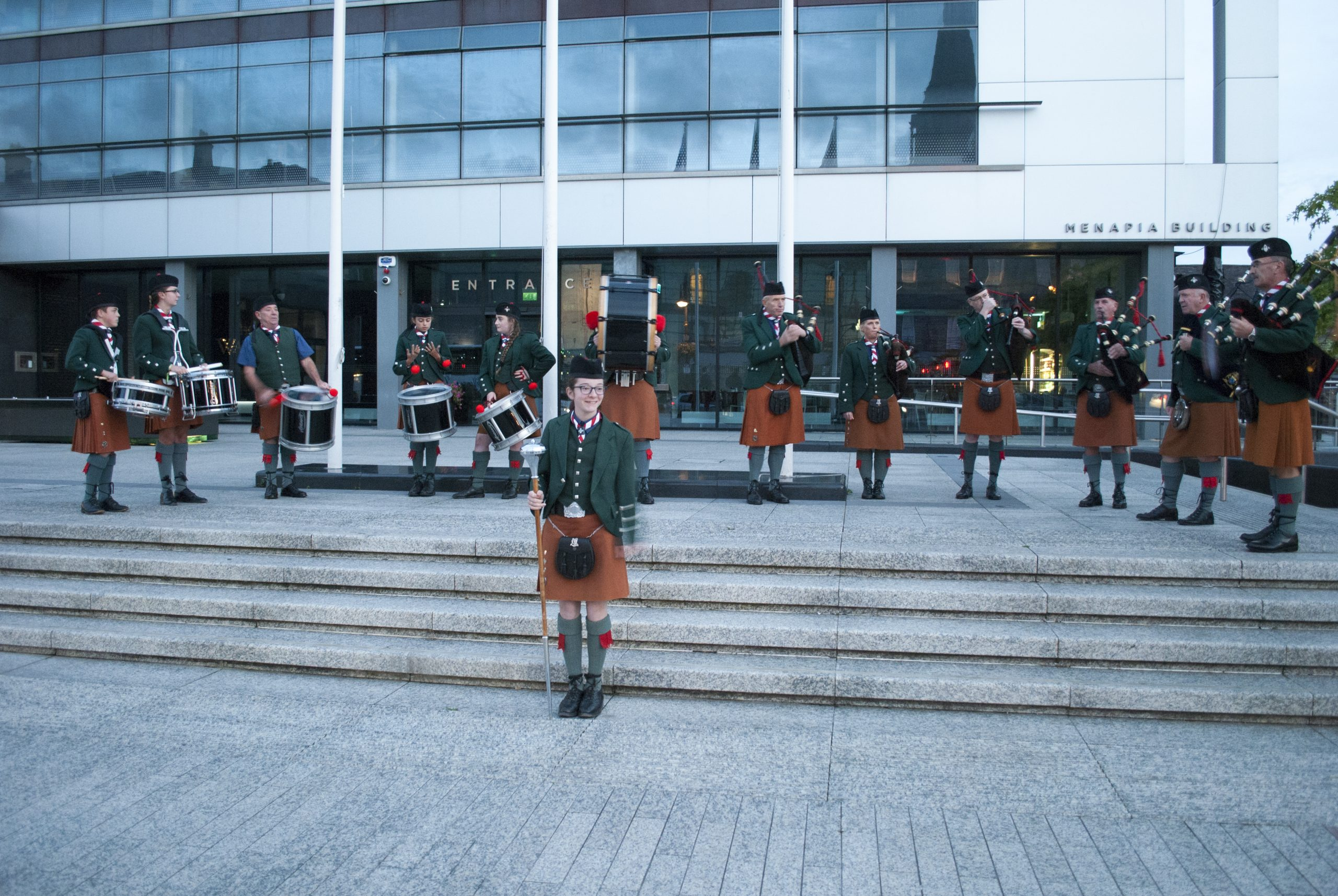De La Salle Pipe Band perform as part of Waterford Culture Night 2018