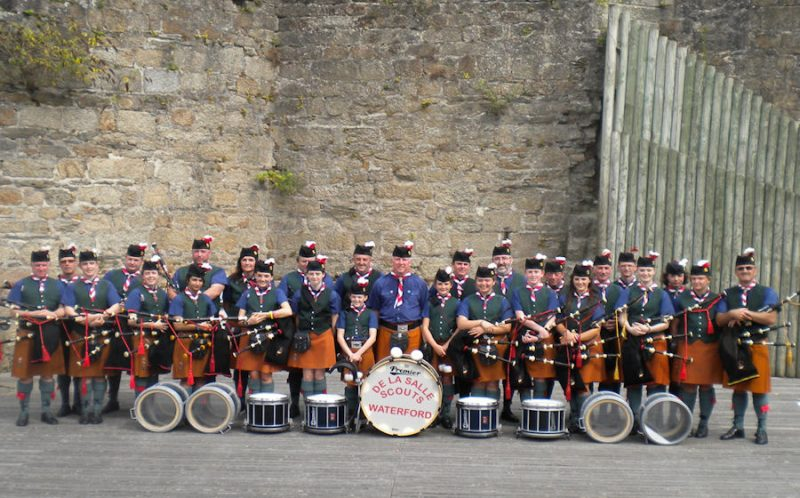 The DLS Scout Pipe Band in the summer of 2011
