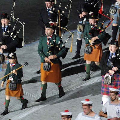 Piper Major Pat Murphy at the festival Interceltique de Lorient in 2009