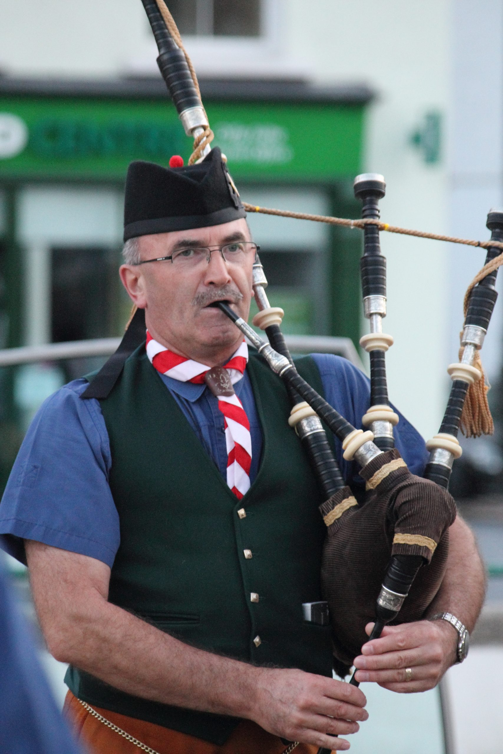 Pat Murphy - Group Leader and Pipe Major