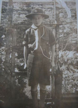 Chris Lane in the scout uniform of the 1940's
