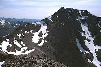 Ben Nevis from the approach to the Carn Mor Dearg arete