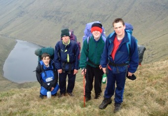Members of the 7th Scout Troop on the 2000 Munster MPC/Sionnach in the Galtees