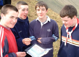 Members of the 7th try their hand at some mapwork