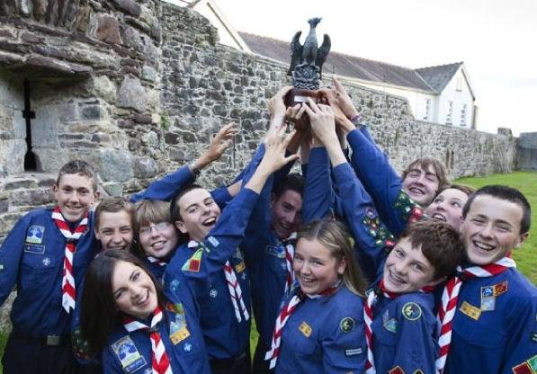 The 7th De La Salle Scout Troop winners of the Phoenix Trophy