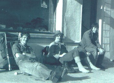 Robbie Wallace, Eddie O'Sullivan and Johnny Byrne on the right. Eddie and Johnny were both originally from Carrigeen Park in Waterford. The photo was taken by Tom Casey outside the shop at Mahon Bridge on a Venture weekend in the Comeraghs in the late seventies.