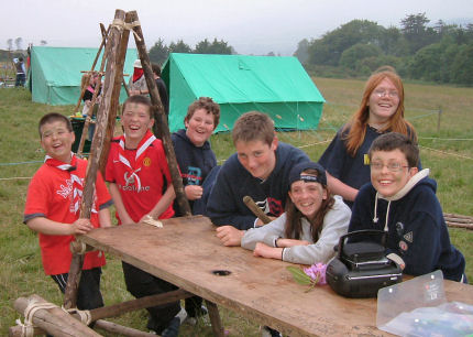 The team from the 3rd Scouts on the 2005 County Challenge Weekend