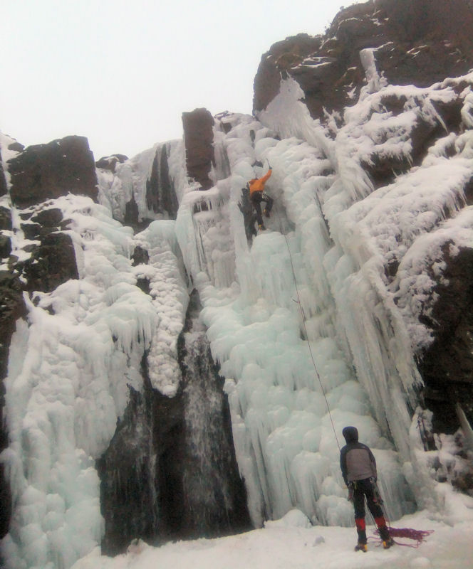 Ice climbing at Coum Mahon in the Comeragh Mountains