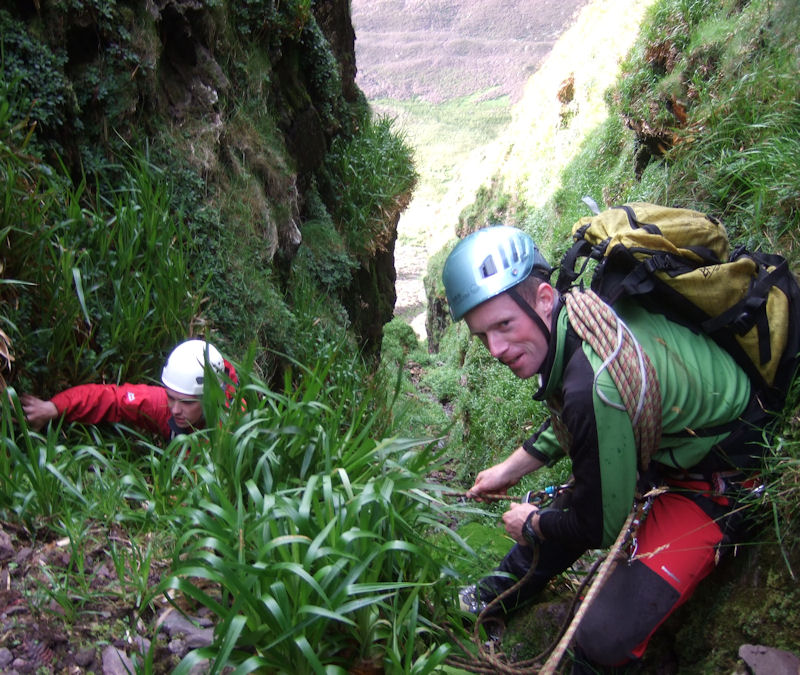 In Dead' Sheep's Gully at Coumshingaun