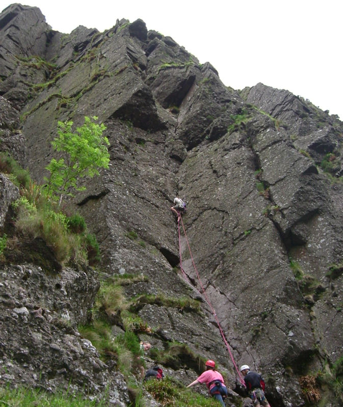 Harry Fogg on its second ascent