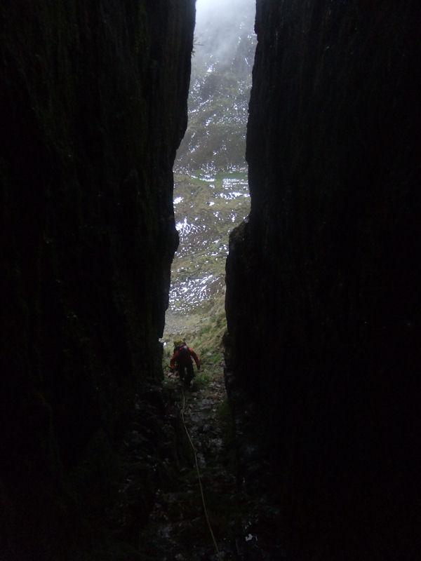 Pat Scanlan scopes out a deep dark Comeragh gully