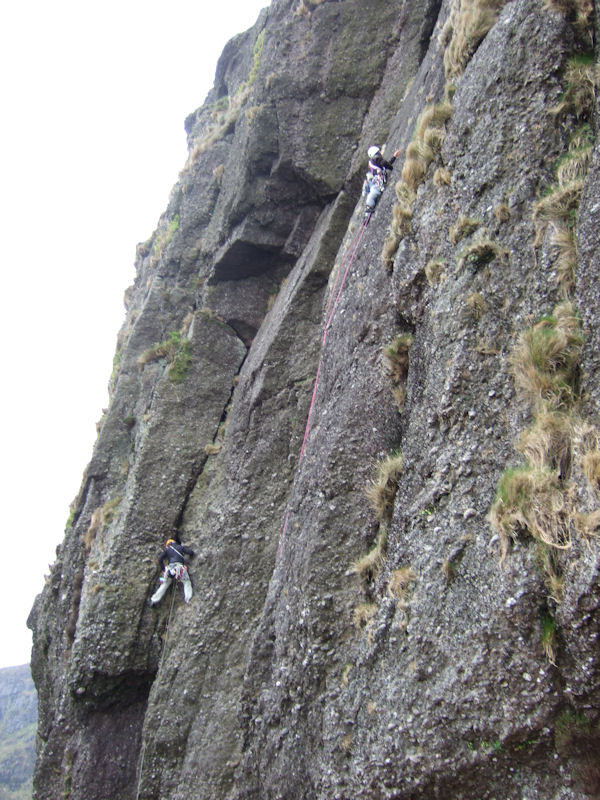 Mick Walsh on Running on Empty and Gerry Fogg on the first ascent of Brian's Slab at Foill an Priosun