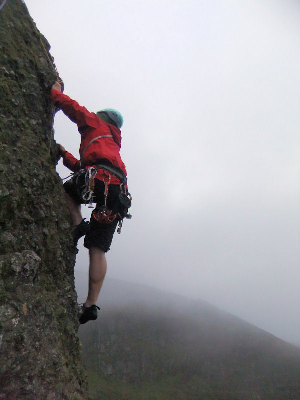 Eoin Kelly at the traverse on Ong Gong Arete at Crotty's Rock