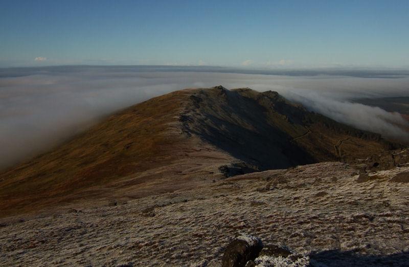 "Looking across a snowy Knockanafrinn ridge or the ""Seven Sisters"" as it is known in Clonmel"