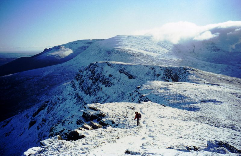 The Knockanafrinn Ridge with a wintry covering