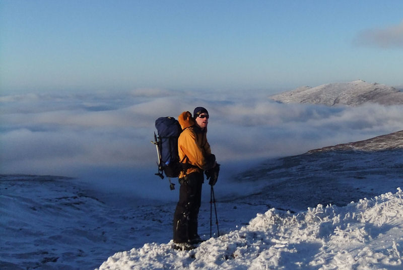 Above the Nire Valley with the Knockafrinn Ridge behind